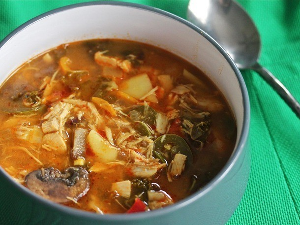Slow Cooker Slow Cooker Red Curry Soup With Chicken and Kale