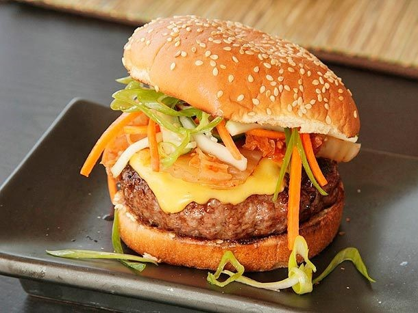 Sweet Barbecue Kim-cheese Burgers Recipe