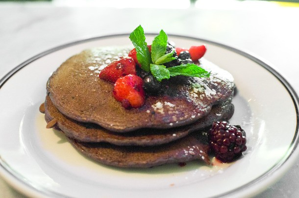 Coppelia's Blue Corn Pancakes, a Worthy Breakfast Available All Day