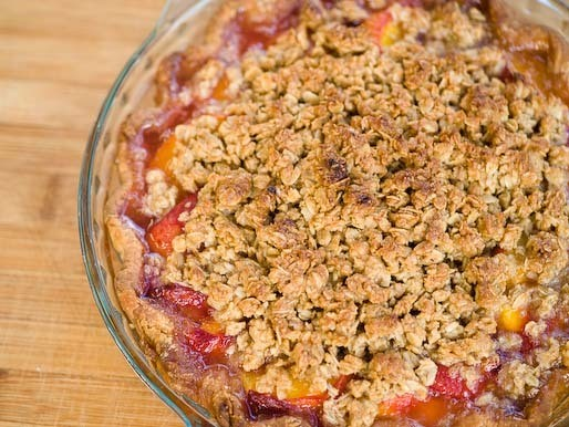 Make This Now: Peach and Ginger Crisp Pie