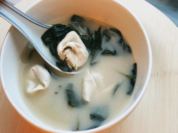 Make-Ahead Miso Lemongrass Soup with Mushroom Dumplings Recipe