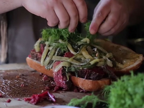 Video: One of the Most Beautiful Pastrami Sandwiches We've Ever Seen
