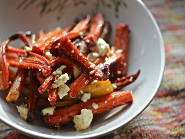 Charred, Oven-Roasted Carrot Salad With Feta Cheese Recipe
