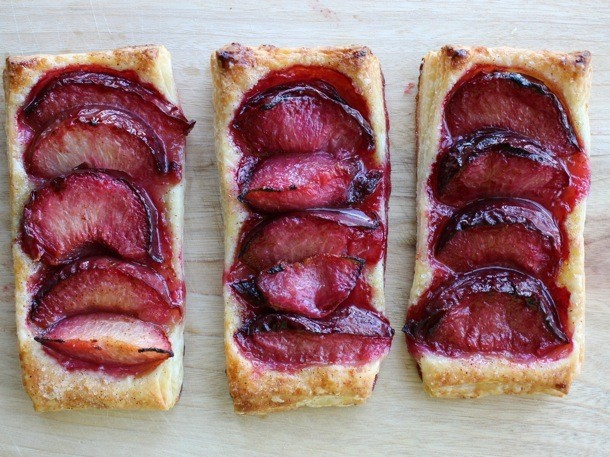 Puff Pastry Plum Tarts Recipe