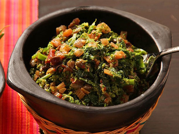 Sicilian-Style Broccoli Rabe With Eggplant and Capers Recipe