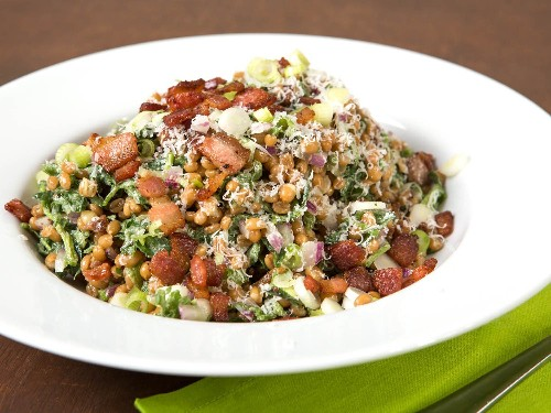 Wheatberry and Watercress Salad With Bacon Vinaigrette Recipe