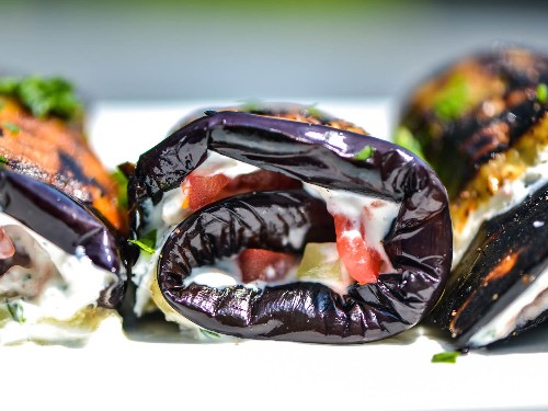 Fruit Roll Up: How to Grill Sliced Eggplant and 3 Ways to Stuff It