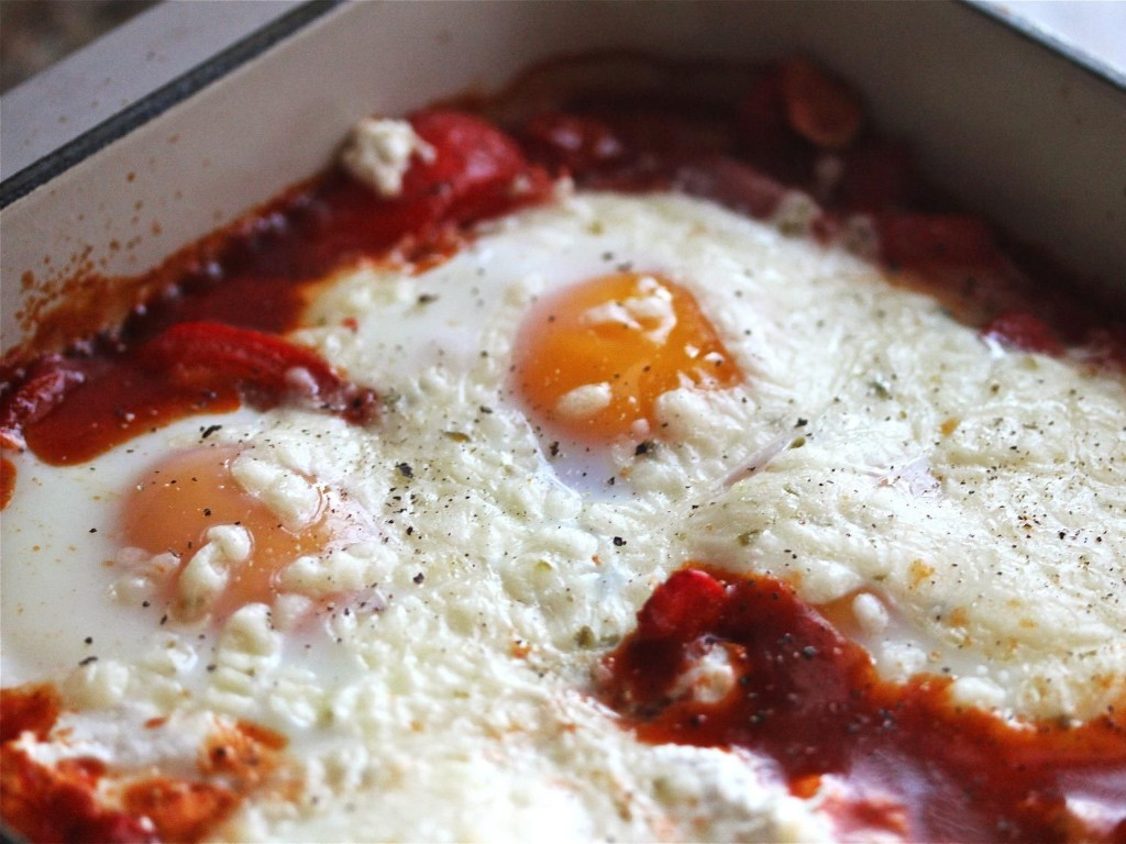 Sunday Supper: Portuguese Baked Eggs With Chorizo and Ricotta
