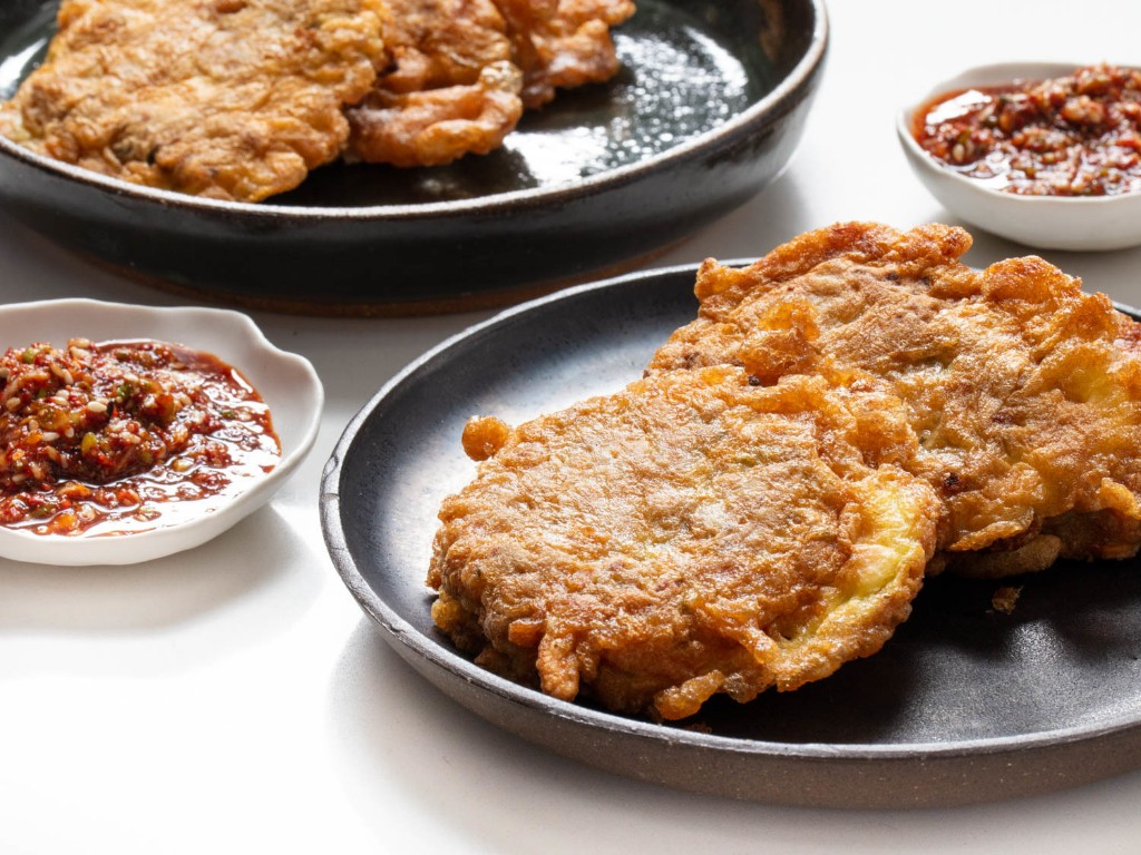 Sweet Potato and Sausage Jeon With Yangnyeom Dipping Sauce Recipe