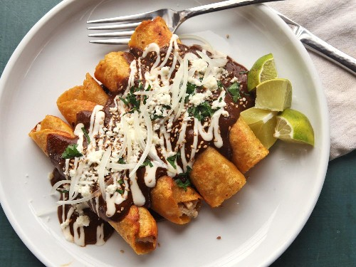 How to Make 15 Minute Stovetop Roast Turkey and Mole Enchiladas