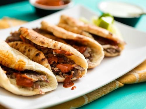 Tacos Árabes (Pita-Wrapped, Cumin-Marinated-Pork Tacos) Recipe