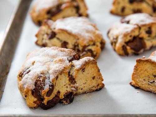 Bakery-Style Cream Scones With Milk Chocolate Recipe
