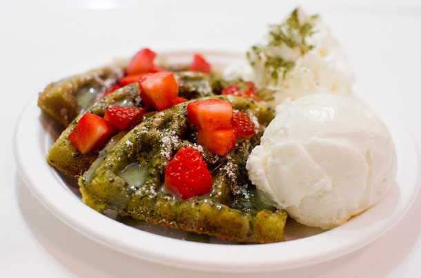 Chinese Dessert Spot InDessert Does Green Tea Waffles