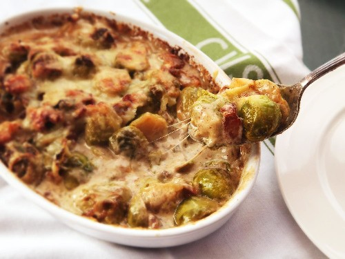 The Food Lab: This Creamy, Cheesy Brussels Sprouts Gratin Just Might Be the Side Dish of Your Dreams