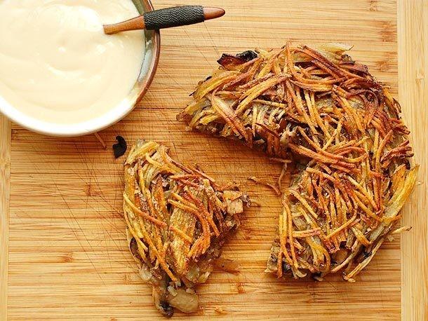 Crispy Potato, Onion, and Mushroom Rösti Recipe