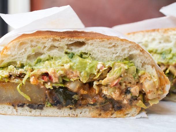 A Sandwich a Day: Potato and Poblano Torta at Choza Taqueria