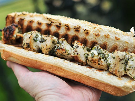 Chicken Spiedies (Lemon- and Herb-Marinated Grilled Chicken Sandwiches) Recipe