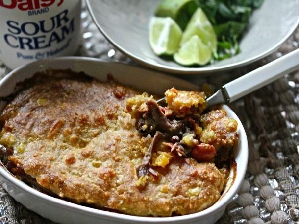 Sonoran Pot Roast Pie with Cheesy Cornbread Crust Recipe