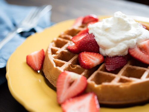 Overnight Brown-Butter Yeast-Raised Waffles Recipe
