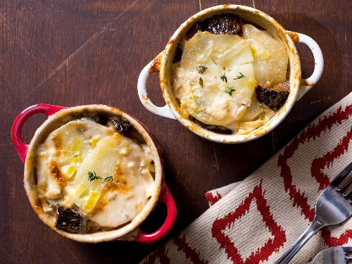 Harold Dieterle's Potato, Fig, and Leek Gratin