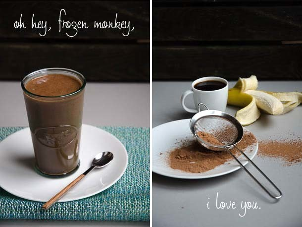'Frozen Monkey' Coffee Chocolate Banana Smoothie Recipe