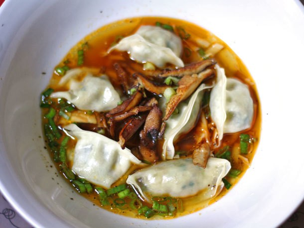 Dinner Tonight: Steamed Dumplings With Shiitake Mushrooms in Sichuan Soup