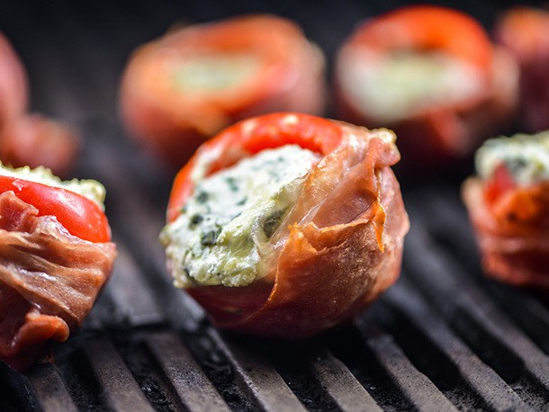 Grilling: Prosciutto-Wrapped Stuffed Cherry Peppers
