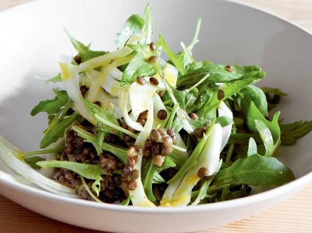 Arugula, Fennel, and Green Lentil Salad from 'River Cottage Veg'