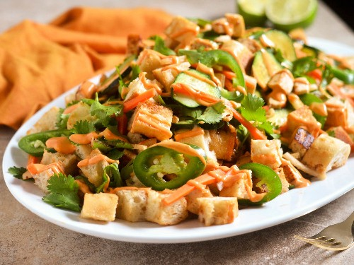 When Vietnamese Sandwiches and Italian Bread Salads Combine: Banh Mi Panzanella