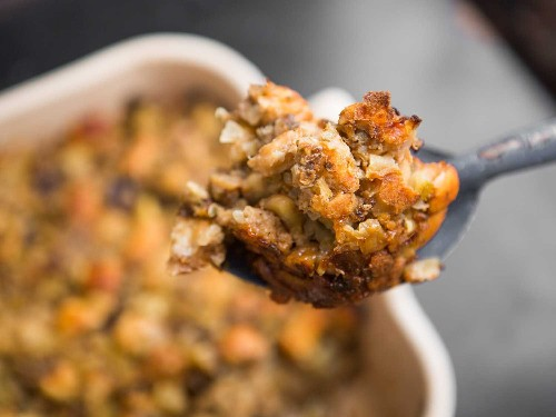Prune and Apple Stuffing With Sausage and Chestnuts Recipe