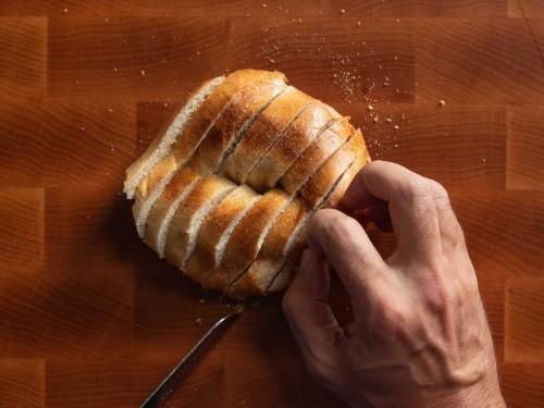 Hasselbacked Croque Monsieur Bagels Recipe