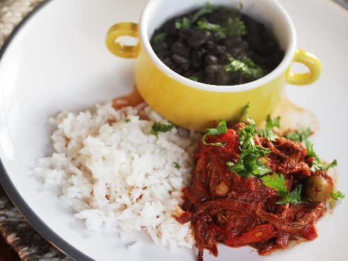 Slow-Cooker Ropa Vieja With Black Beans and Rice Recipe