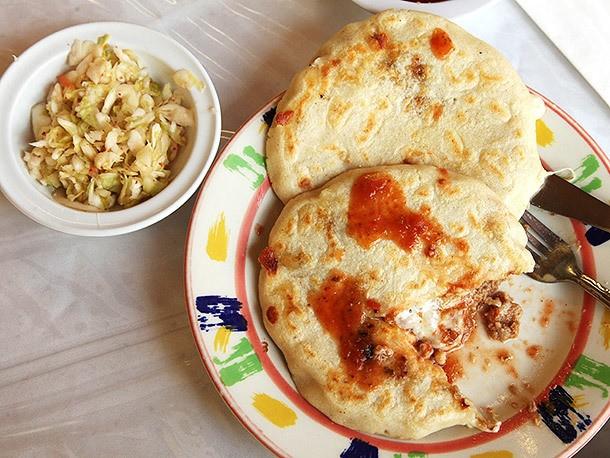 Big Fat Pupusas at El Salvador Restaurant in San Francisco