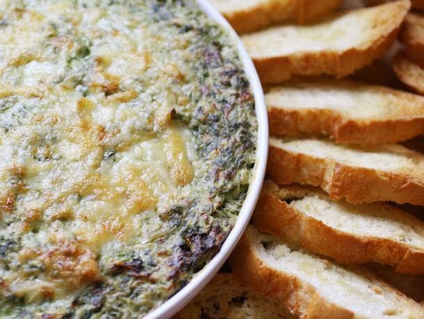 Boursin and Gruyère Spinach and Artichoke Gratin Dip Recipe