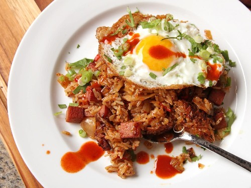 Kimchi and Spam Fried Rice Recipe