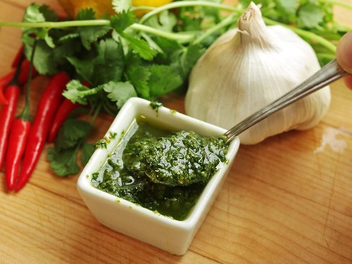 Zhug (Yemenite Hot Sauce With Cilantro and Parsley) Recipe