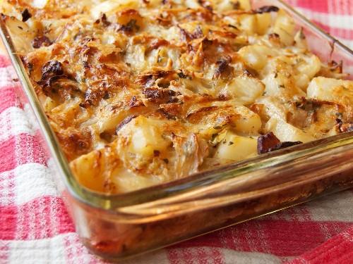 Polish Cabbage, Potato, and Bacon Casserole Recipe