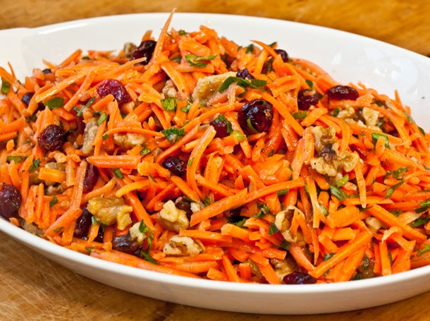 Serious Salads: Carrot Slaw with Cranberries and Toasted Walnuts Recipe