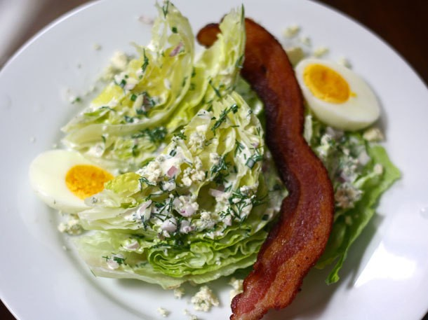 Wedge Salad With Ranch Dressing and Crumbled Blue Cheese Recipe