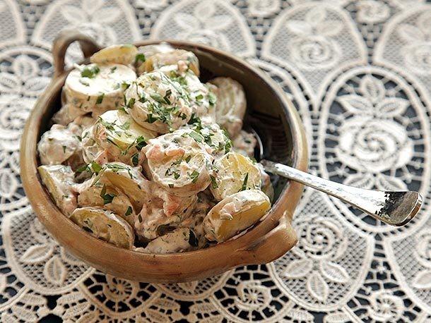 5-Ingredient Smoked Salmon and Potato Salad Recipe