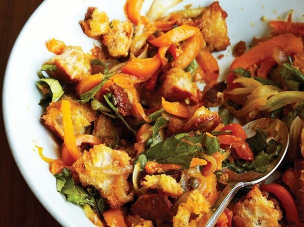 Yellow Bell Pepper Panzanella from 'Family Table'