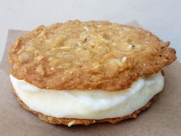 Anzac Cookie and Pineapple Ice Cream Sandwiches Recipe