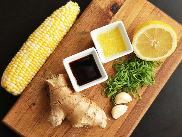 Corn Week: Grilled Corn with Garlic and Ginger Soy-Butter