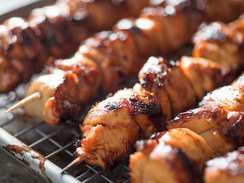 Grilled Chicken Skewers Get a Japanese Twist With a Sweet-Sour Marinade