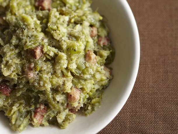 Smashed Green Beans and Potatoes with Pancetta from 'The Glorious Vegetables of Italy'