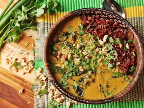 West African Peanut Soup Meets Khao Soi. Extra Nuttiness Ensues.