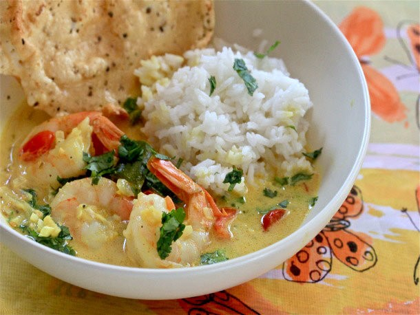 Sunday Supper: Fiery Indian Shrimp Curry