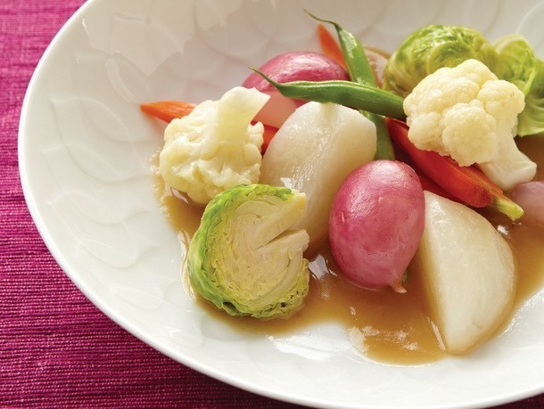 Vegetables with Sumiso Bagna Cauda from 'Hiroko's American Kitchen'