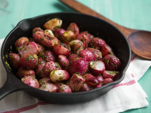 Butter-Glazed Roasted Radishes With Fresh Herbs Recipe