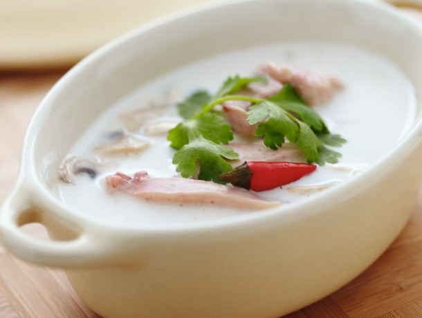 Chicken Coconut Soup (Tom Kah Gai) From 'Everyday Thai Cooking'